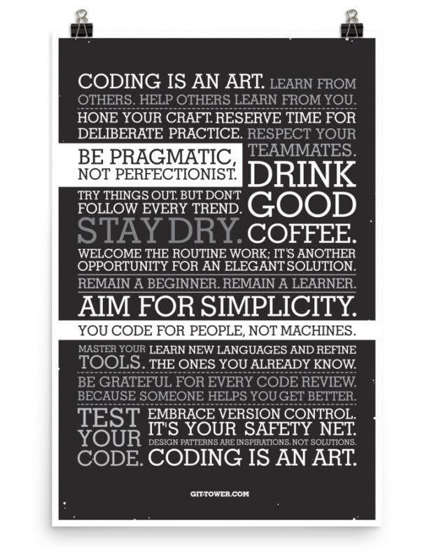 you code for people not machines the developer manifesto als poster f r dein b ro t3n. Black Bedroom Furniture Sets. Home Design Ideas