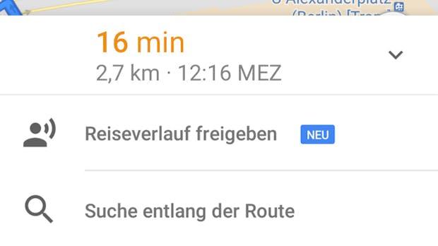 Google Maps: Bald könnt ihr euren Standort live mit euren Freunden teilen