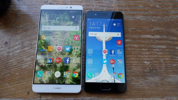 Huawei P10 vs Huawei Mate 9. (Foto: t3n)