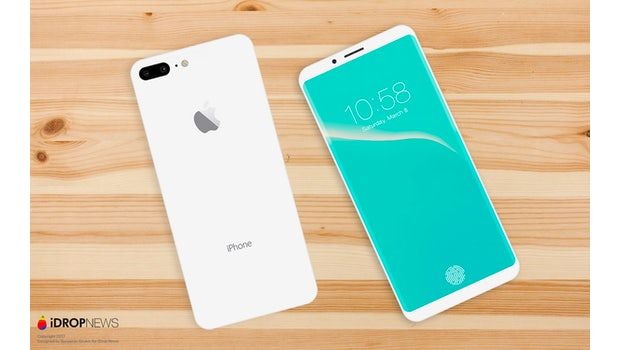 "Das iPhone-8-Konzept mit rückseitiger Dual-Kamera. (Bild: <a href=""https://www.idropnews.com/rumors/report-confirms-5-8-oled-display-destined-iphone-8/33447/"">Benjamin Geskin; iDropnews</a>)"