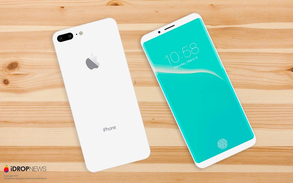 Das iPhone-8-Konzept mit rückseitiger Dual-Kamera. (Bild: Benjamin Geskin; iDropnews)