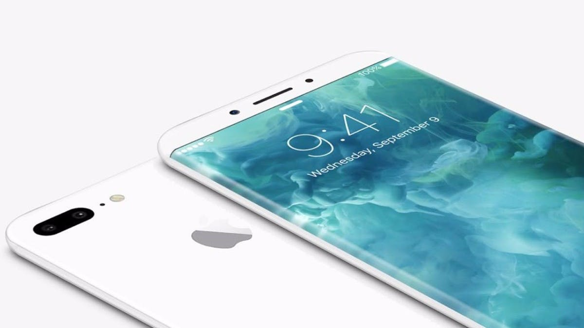 """Das OLED-Display des iPhone 8 soll leicht geschwungen sein. (Konzept: <a href=""""https://twitter.com/VenyaGeskin1"""">Benjamin Geskin)</a>"""