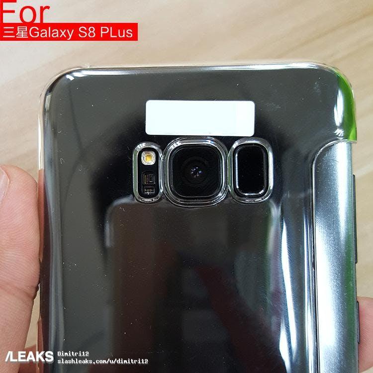 Auf der Rückseite des Galaxy S8 ist deutlich der Fingerabdruckscanner zu erkennen – und keine Dual-Kamera. (Foto: via Slashleaks)