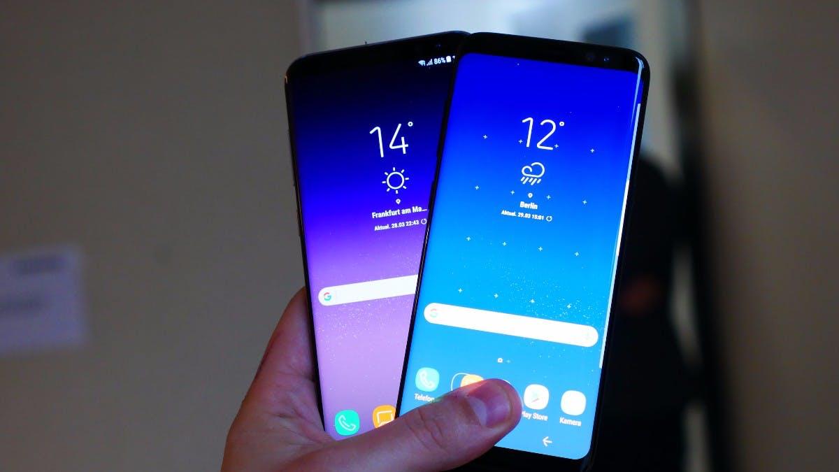 Samsung Galaxy S8 und S8 Plus – wegen des 18,5:9-Displays und der kompakten Bauweise ist kein Platz für Branding auf der Vorderseite. (Foto: t3n)