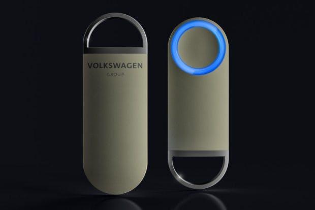 Mit dem One-Button soll der Sedric gerufen werden können. (Bild: Volkswagen)