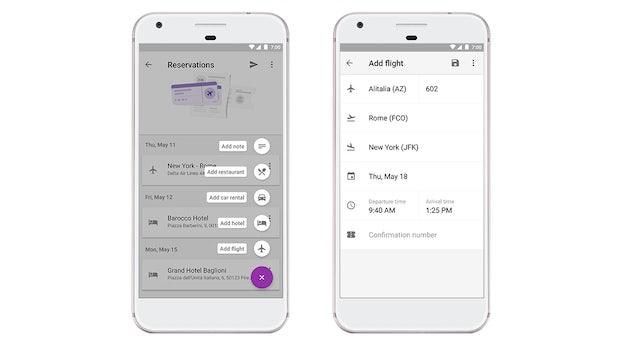 Google Trips erhält neue Funktionen