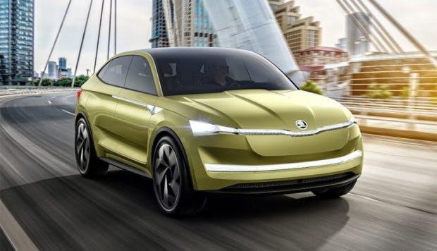 Elektroauto-Konzept Vision E von Škoda. (Bild: Škoda)