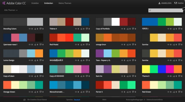 Harmonie Pur 12 Dienste Fur Inspirierende Farbpaletten
