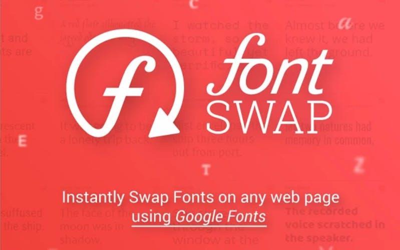 Font Swap tauscht Schriften auf beliebigen Websites aus