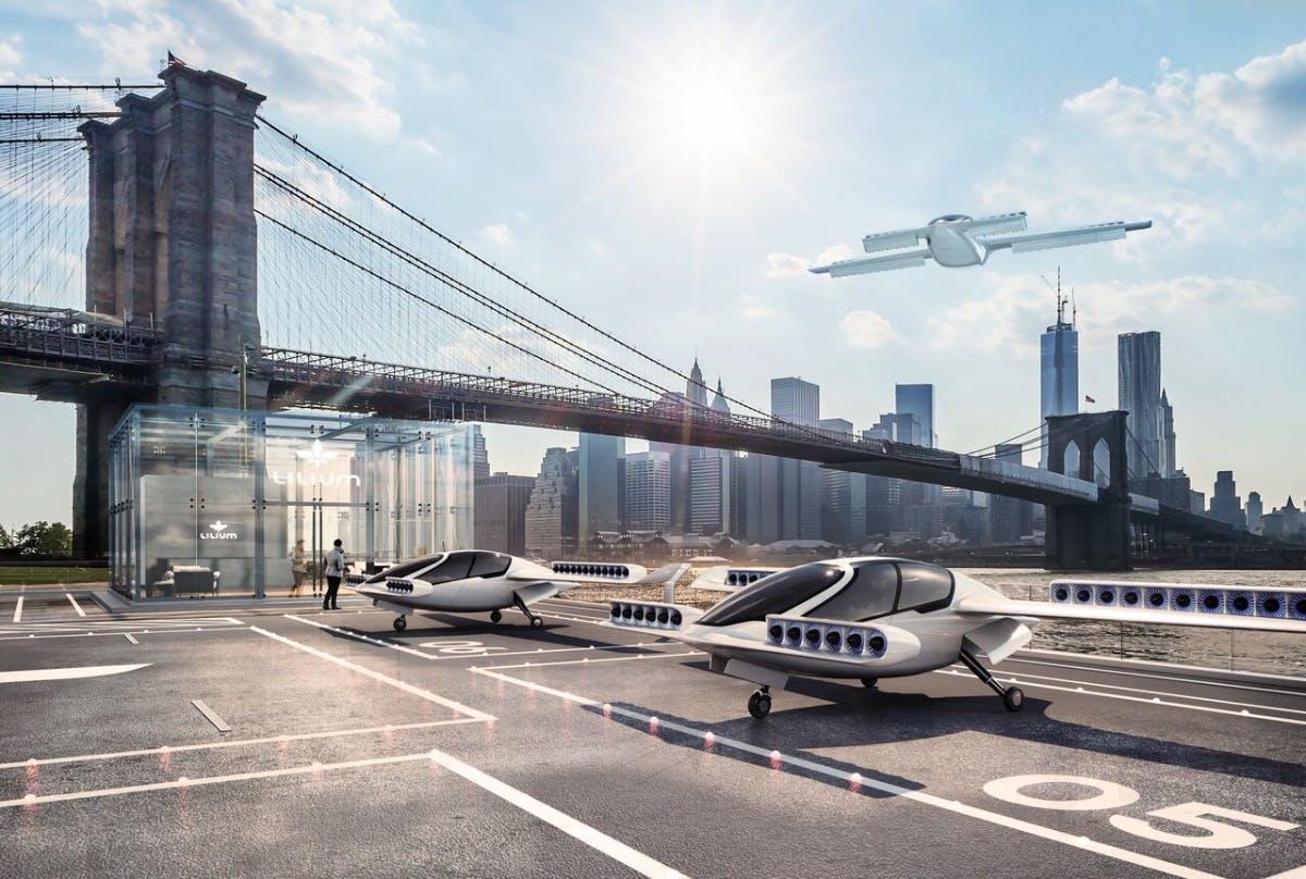 Der Lilium-Jet, eine Alternative zum Auto? (Foto: Lilium)