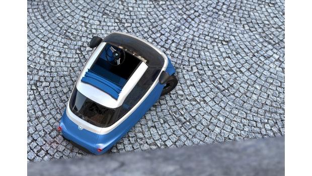 Microlino von außen. (Bild: Micro Mobility)