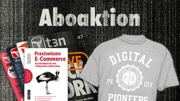 t3n-Abo inklusive gratis E-Commerce-Buch!