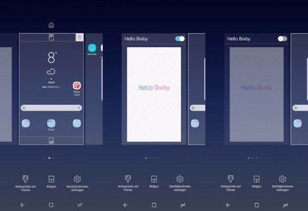 Auch wenn ihr den Bixby-Homescreen deaktiviert, per Button ist der Dienst immer noch erreichbar. (Screenshot: t3n)