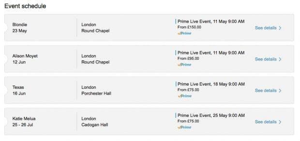 Amazon Prime Konzerte