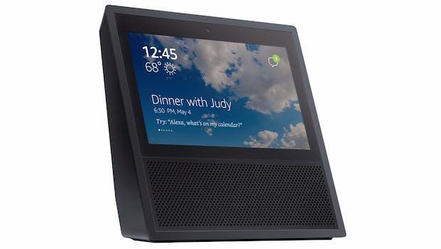 Der Amazon Echo Show in Schwarz. (Bild: Evleaks)