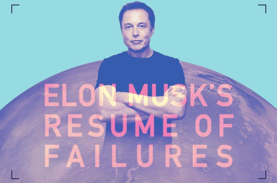 Elon Musk und seine Niederlagen: Das ist der Failing-Lebenslauf des Erfolgsmenschen