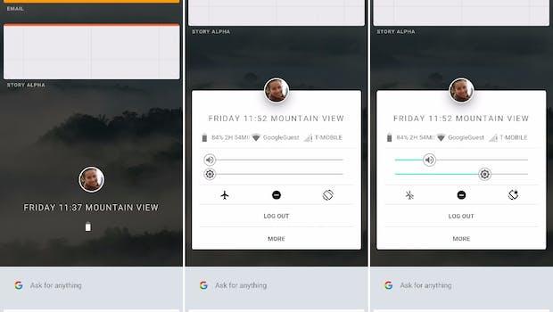 Ein Tap auf das Profilbild bringt eine Art Quick-Settings zu Vorschein.  (Screenshot: Ars Technica)
