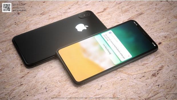 """So könnte das iPhone 8 in Schwarz aussehen. (Renderbild: <a href=""""http://www.martinhajek.com/iphone-8-leak-in-white/"""">Martin Hajek</a>)"""