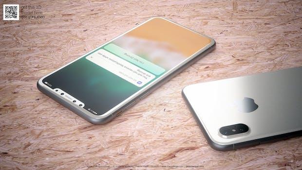 So könnte das iPhone 8 in Weiß aussehen. (Renderbild: Martin Hajek)