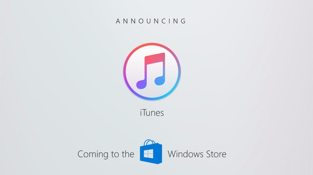 Apple bringt iTunes in den Windows-Store
