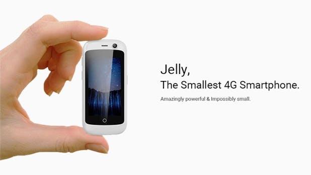 Jelly: Das winzigste Android-Nougat-Smartphone der Welt sucht Unterstützer