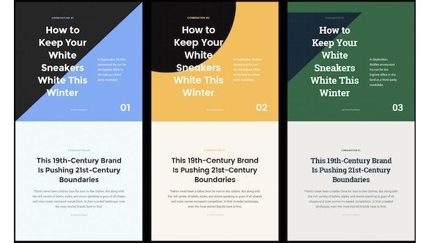 Font Combinations Kit: 34 kostenfreie Font-Templates für dein Design-Projekt. (Screenshot: t3n.de)