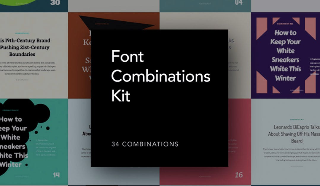 Font Combinations Kit: 34 kostenfreie Font-Templates für dein Design-Projekt