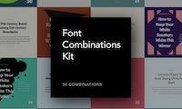 Font Combinations Kit: 34 kostenfreie Font-Templates für dein Design-Projekt