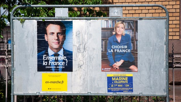Stichwahl in Frankreich: So schlagen sich Macron und Le Pen in den sozialen Netzen