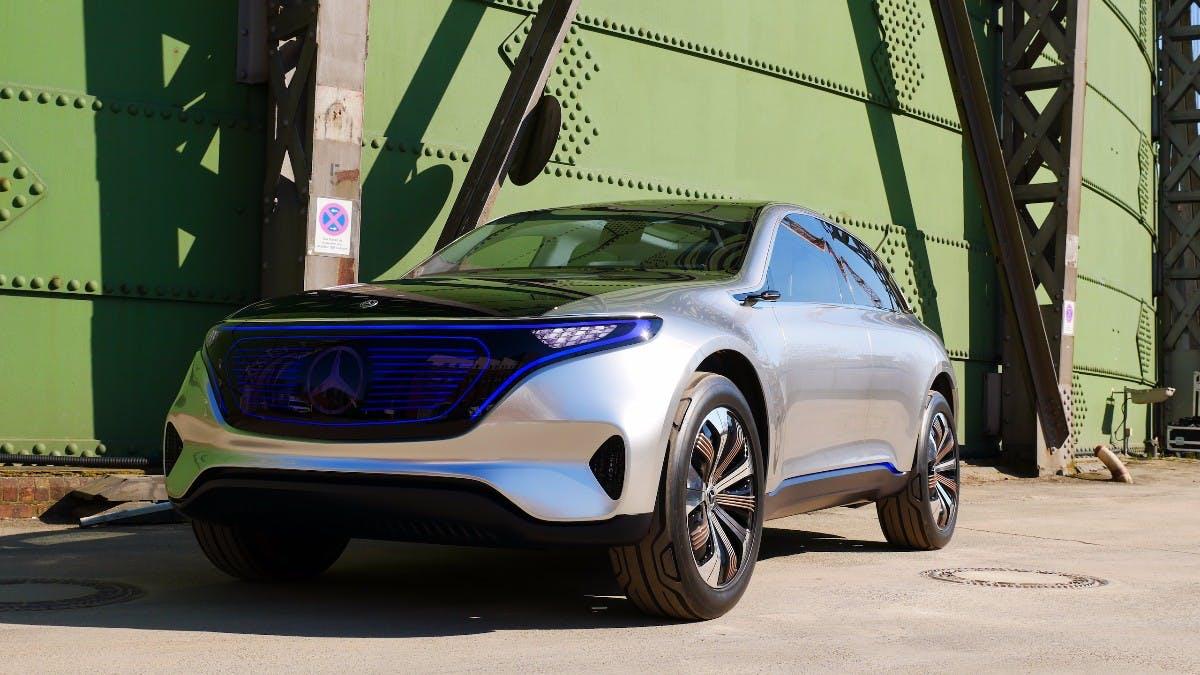 Mercedes EQ: Daimlers Konzept Stromer Aus Der Nähe Betrachtet
