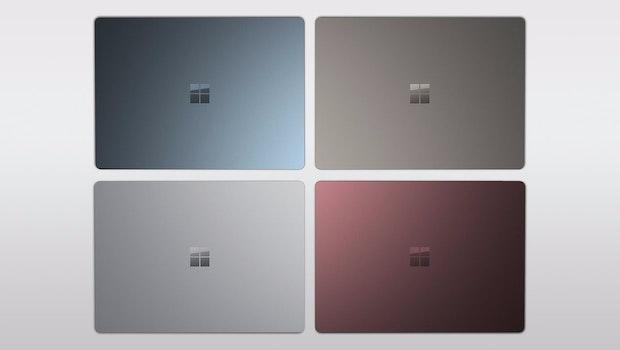 Das Microsoft Surface Laptop kommt unter anderem in Rot. (Bild: Evleaks)