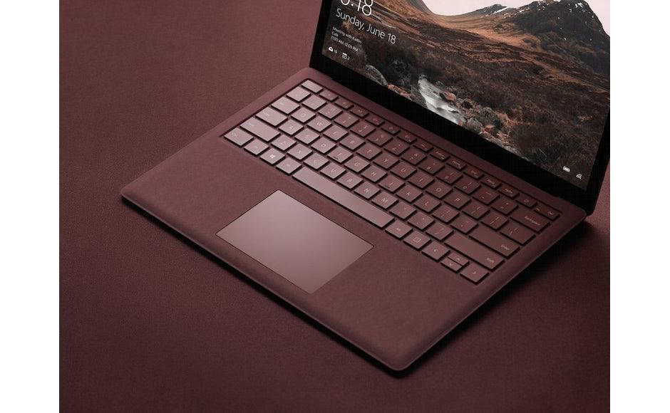 microsoft surface laptop farben alcantara keyboard t3n digital pioneers. Black Bedroom Furniture Sets. Home Design Ideas