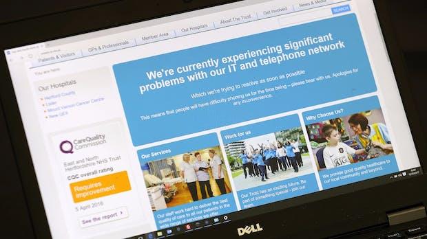 Cyber-Angriff durch Wanna Cry: Britische Kliniken schicken viele Patienten nach Hause