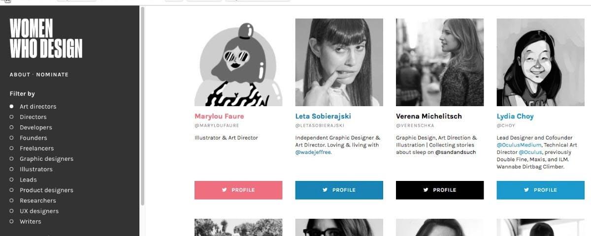 Women Who Design: Talentierte Frauen vereint auf einer Website
