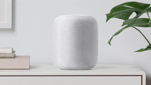 Apples Homepod kommt in weiß und schwarz. (Foto: Apple)