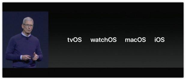 Auf Software-Seite gab es Neuerungen zu allen Apple-Betriebssystemen. (Screenshot: Apple)