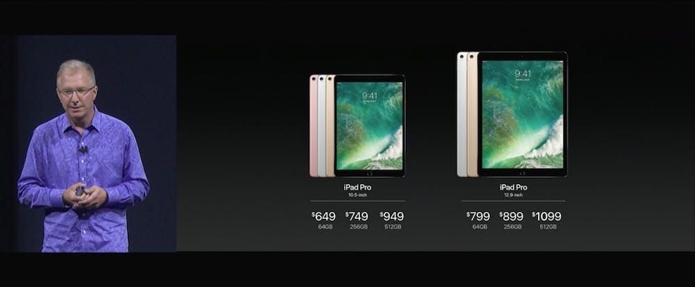 Auch mit in der vollen Keynote: aufgefrischte iPad Pros. (Screenshot: Apple)