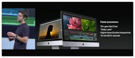 Auch mit von der Partie am Montagabend: Aufgefrischte iMacs. (Screenshot: Apple)