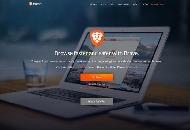 Browser-Startup Brave