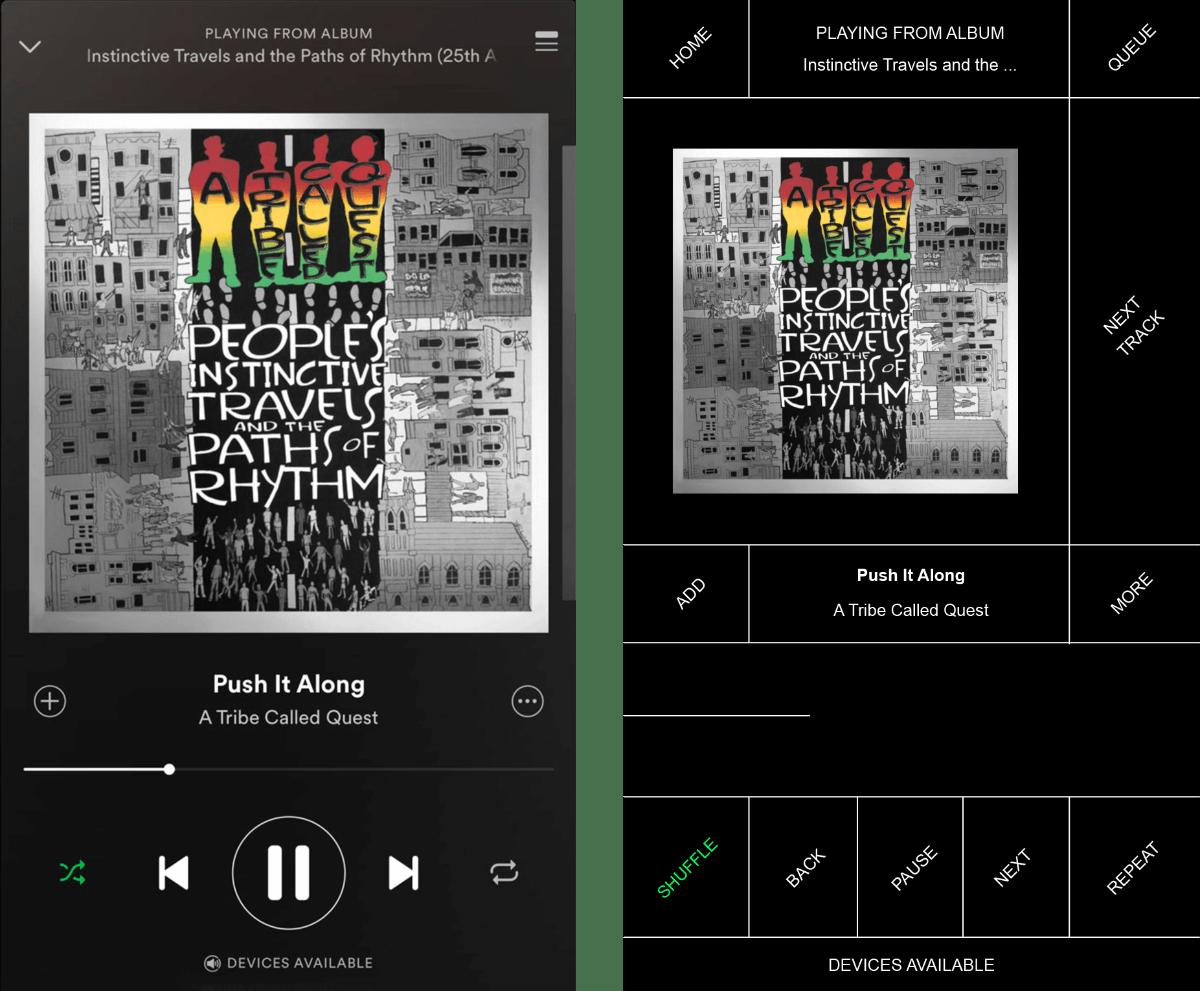 Spotify. (Screenshot: © Pierre Buttin)
