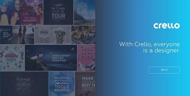 Crello produziert schicke Grafiken für Social Media und andere Zwecke