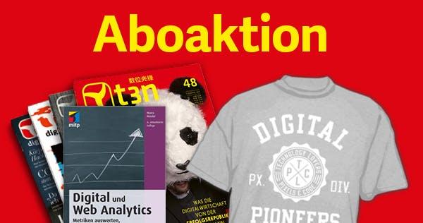 """""""Digital und Web Analytics"""" – 30x gratis zum t3n-Abo"""