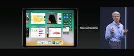 Auch neu unter iOS 11: Der App-Switcher auf dem iPad. (Screenshot: Apple)
