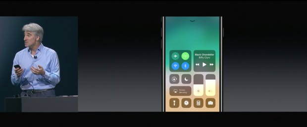 Das neue Control-Center von iOS 11. (Screenshot: Apple)