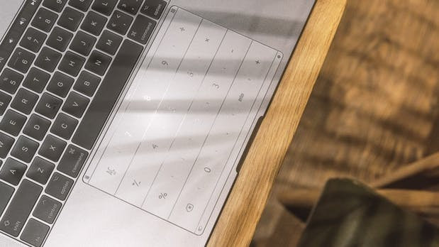Dieser Sticker verwandelt das Trackpad eures Macbooks in einen Ziffernblock