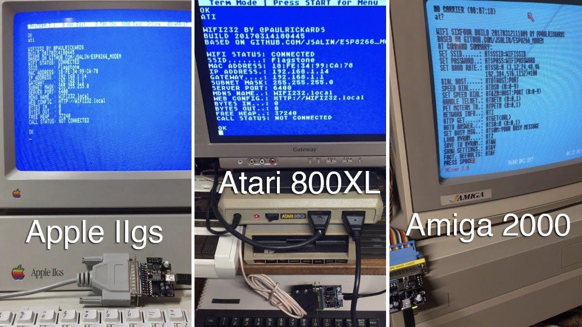 Atari, Amiga, Apple und mehr: WLAN-Modem bringt eure alten Schätze ins Netz