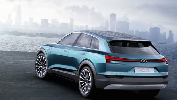 Audi e-tron quattro concept wird einer der ersten reinen Stromer sein. (Bild: Audi)