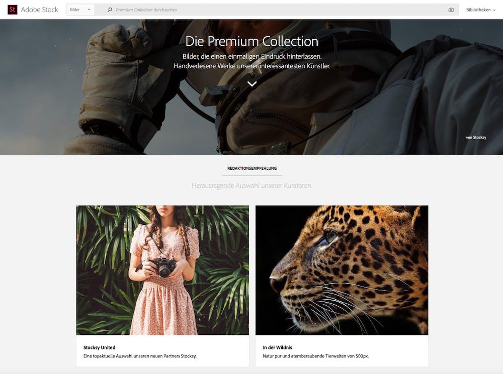 Mit Stocksy will Adobe für mehr hochwertige Bilder in seinem Stockfoto-Dienst sorgen. (Screenshot: Adobe Stock)