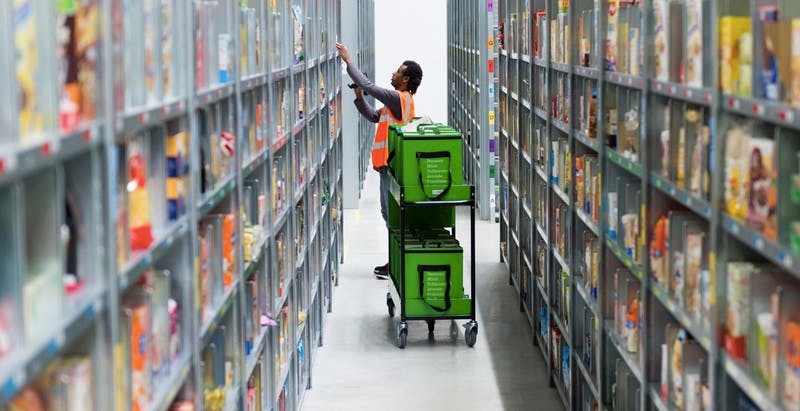Hinter den Kulissen von Amazon Fresh: Wie Picker und clevere Software deinen Einkaufskorb füllen