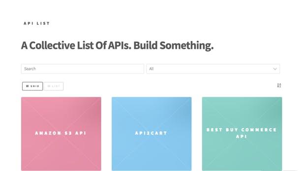 Auf der Suche nach API? Diese Website hat sie alle!